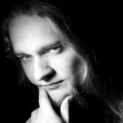 Black&white photo of Piotr Horzycki